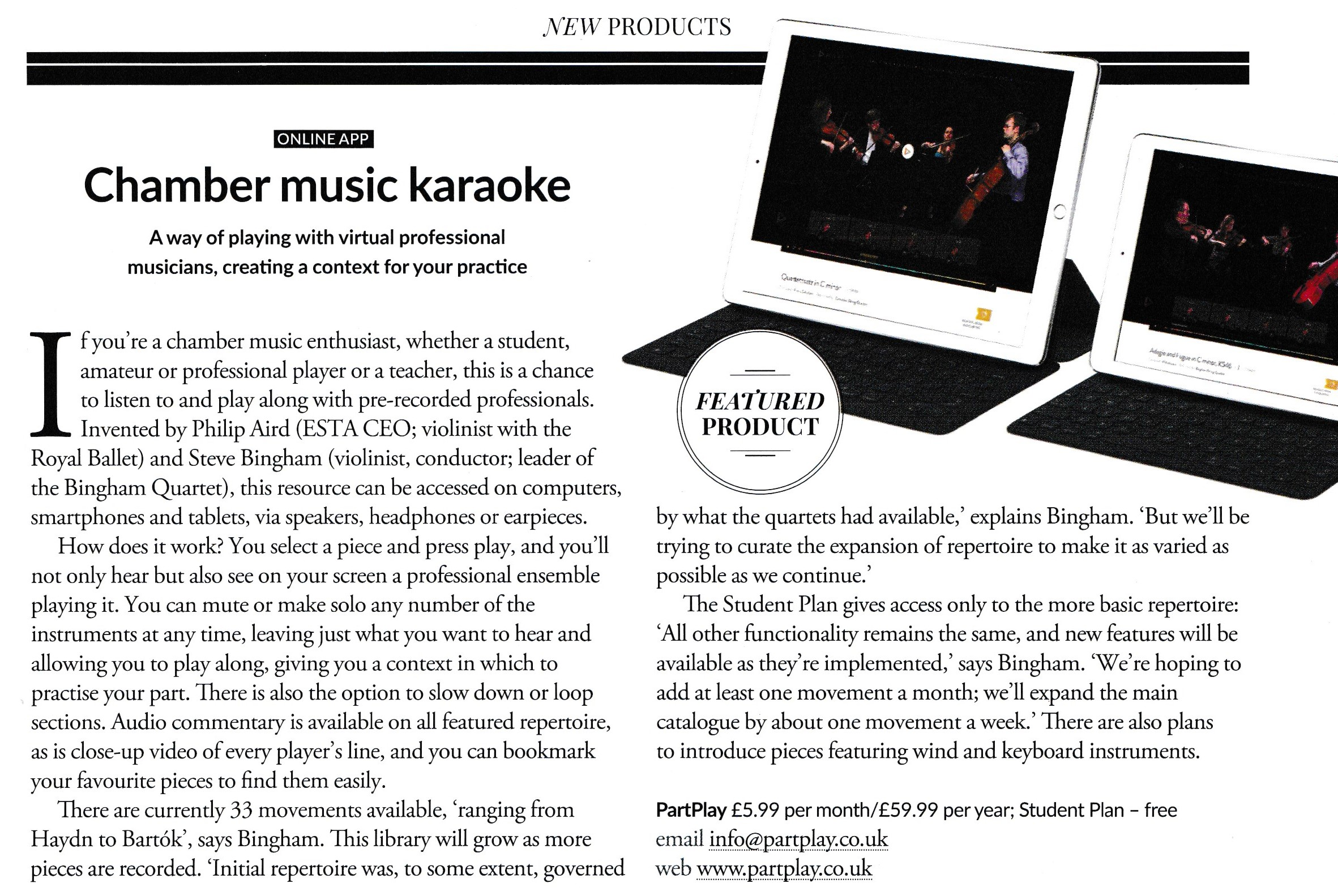 Kamermuziek karaoke, Strad 2016.08, p. 23